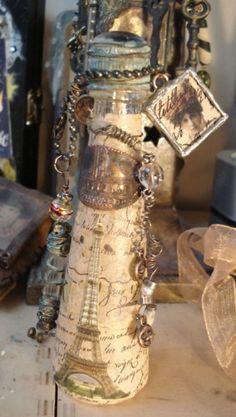 steampunk altered bottles  #bottles #jars #craft with bottles #glass craft #recycle #upcycle #altered art bottles #steampunk Wine Bottle Crafts, Jar Crafts, Bottle Art, Altered Tins, Altered Bottles, Altered Art, Bottles And Jars, Glass Bottles, Steampunk Crafts