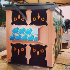 Dumpster painting in fernie bc - Birds and their prey.