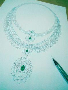 Jewellery Sketches, Diamond Jewellery, Sketching, Turquoise Necklace, Gemstone, Diamonds, Diamond Jewelry, Jewelry Sketch, Diamond