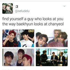 I'm telling you guys baekyeol or chanbaek is real Kpop Exo, Exo Chanyeol, Kyungsoo, Exo Chanbaek, Exo Ot12, Namjin, Yoonmin, My Cute Love, Taekook