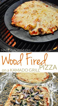 Wood Fired Pizza on a Kamado Grill, Grilled Pizza Stone, Grilled Pizza Recipes, Grilling Recipes, Smoker Recipes, Vegetarian Grilling, Flatbread Recipes, Tailgating Recipes, Grilling Tips, Healthy Grilling