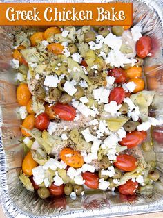 Greek Chicken Bake ~ freezer friendly recipe from 5DollarDinners.com