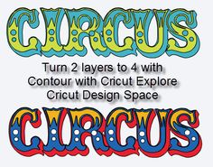 Capadia Designs: Cricut Design Space - Use Contour to create more layers (Cricut Explore)