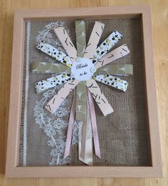 Framed Bride to be Badge Rosette Present by AmysOccasionalCrafts