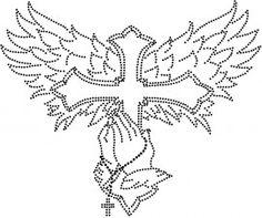 kruis, handen, rozenkrans A3