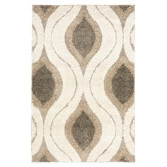 Safavieh Florida Cream & Smoke Shag Area Rug ($273)