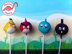 Angry Bird Cake Pops....