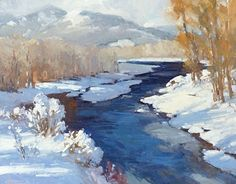 Winter Piece by Bill Cramer Oil ~ 16 x 20