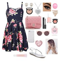 """A Day at the Beach"" by krieschl2003 ❤ liked on Polyvore featuring Ally Fashion, Chanel, Prada, Christian Dior, Lancôme, Victoria's Secret, H&M, Sephora Collection, Essie and Jamie Clawson"