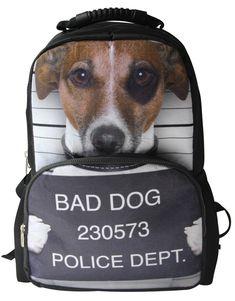 Dog breed luggage tag Mini Schnauzer school backpack gym dance sports laptop bag