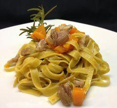 architettando in cucina: Fettuccine alle castagne con zucca, castagne e gorgonzola