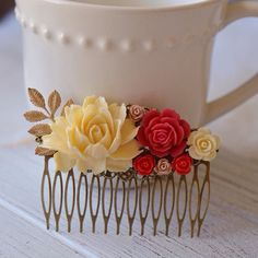 New hair comb available in my shop! And as always I take custom orders #etsy #etsyshop #etsycraftfever #abbiesanchor #gold #leaf #roses #wedding #weddingday #weddinghair #bridesmaid #bridesmaid #bridebookhair #bridesmaidgift #boho #goddess #summer #spring #teatime #shabbychic #rustic #cottagechic #romantic #shopsmall by abbiesanchor