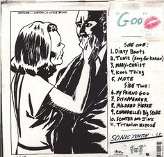 Sonic Youth - Goo. back cover