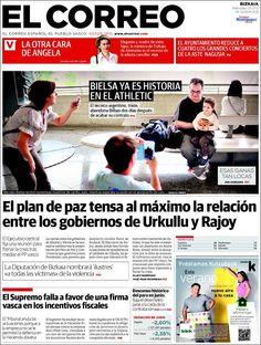 Los Titulares y Portadas de Noticias Destacadas Españolas del 3 de Julio de 2013 del Diario El Correo ¿Que le parecio esta Portada de este Diario Español?