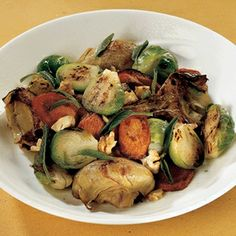 mixed vegetables with sage  misto di verdure alla salvia