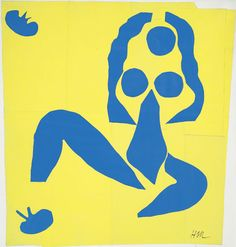 drawpaintprint: Henri Matisse: NU BLEU, LA GRENOUILLE, 1952 Blue Nude, the frog Excised papers, painted with gouache on paper on canvas. Henri Matisse, Collages, Matisse Cutouts, Piet Mondrian, Art For Art Sake, French Artists, Van Gogh, Unique Art, Modern Art