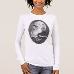 Hw-darwin, Happy Darwin Day! Long Sleeve T-Shirt - click/tap to personalize and buy