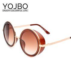 YOJBO Round Sunglasses Women 2017 Original Fashion Brand Designer 8237