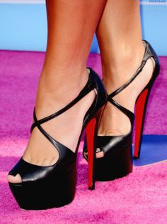 Christian Louboutin Sexy Black Stilettos  #stilettos #black #heels #pumps