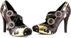 Victorian Steampunk Pointed Toes Foot Strap Pumps High Heels Shoes Adult Women