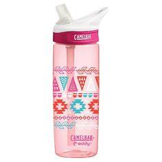 CamelBak eddy .6L BTS Tween Girl Pink Tribal Water Bottle