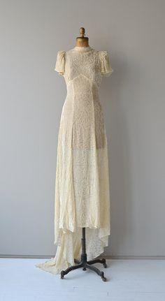 Delphine wedding gown 1930s silk velvet wedding by DearGolden