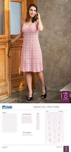 Ажурное платье крючком на бретелях вязаное крючком. Assegnare abito crochet | Домоводство для всей семьи.