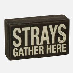 Typography Strays Gather Box Sign | Shopko.com