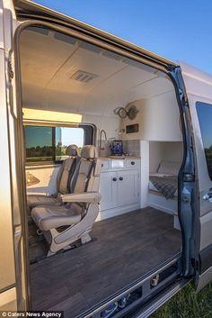 'The main expense on the interior was the seats, which came to about £2500 all fitted. The electrical and heating system another £2000 and the rest on timber, fittings, insulation. the list is very long,' Richens said