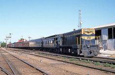 T345 is ready to depart from the dead end station at old Sale with the Train of Knowledge. An L class will take over at Traralgon - December 1982