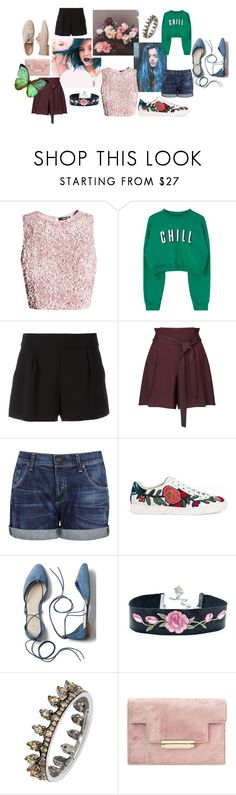 """""""Spring//Summer Vibes"""" by dakshapathak on Polyvore featuring Boutique Moschino, Miss Selfridge, Citizens of Humanity, Gucci, Gap, Annoushka and Bodas"""