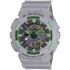 $120 G-SHOCK GA110TS-8A3, G-SHOCK Gray/Green