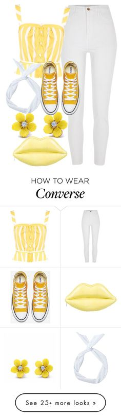 """Sunshine"" by undercover-fangirl on Polyvore featuring River Island, WithChic, Lulu Guinness and Thierry Colson"