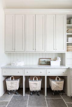 Laundry Room Design, Laundry Rooms, Mud Rooms, Laundry Baskets, Small Laundry, Basement Laundry, Laundry Closet, Sofa Shop, Studio Mcgee