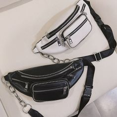 stylish black fanny pack faux leather bum bag designer cute waist pack bag for women. Get 10%off Now Stylish Fanny Pack, Cute Fanny Pack, Black Fanny Pack, Leather Bum Bags, Leather Fanny Pack, Fashion Bags, Fashion Accessories, Waist Purse, Bags Online Shopping