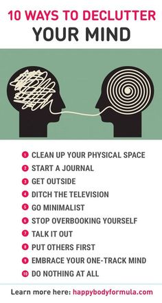 10 Ways To Declutter Your Mind - Do you ever feel overwhelmed, stressed and unable to focus or make decisions. Chances are your mind is too cluttered. Here are 10 simple ways to clear up your mind and find your inner zen. health_tips, motivation, Clear Up, Clear Your Mind, Focus Your Mind, Train Your Mind, Declutter Your Mind, Mental Training, Mindfulness Meditation, Mindfulness Quotes, Meditation Music