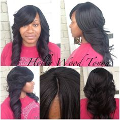 Brilliant Full Sew In Sew Ins And Sew On Pinterest Short Hairstyles Gunalazisus