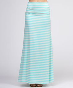 Stun with every step in this marvelous maxi sure to add elegance to any ensemble! With classic stripes and a stretchy blend that comfortably hugs every curve, this skirt will soon become a beloved staple.