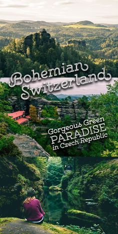 Bohemian Switzerland Czech Republic is a MUST SEE place for nature lovers visiting Europe! Full of green, gorges, rock formations, and raw beauty! Hiking Europe, Europe Travel Tips, European Travel, Travel Guides, Kingdom Of Bohemia, Prague Travel, Europe Destinations, Roadtrip, Czech Republic