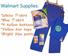 Walmart Supplies for making DIY Jake and the Neverland Pirates Costume