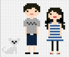 vicky and things: Cross stitch family portrait