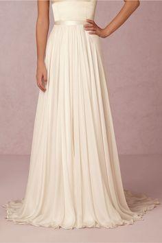 Delia Maxi Skirt in Bride at BHLDN