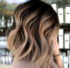 20 Balayage Ombre Short Haircuts , Who does not like balayage ombre short haircuts? Here are some ideas about it. Here are 20 Balayage Ombre Short Haircuts. Balayage hair is one of many. Carmel Blonde Hair Color, Ombre Hair Color, Ash Blonde, Blonde Highlights On Dark Hair Short, Carmel Ombre Hair, Asian Ombre Hair, Lob Ombre, Ombre On Dark Hair, Carmel Blonde Highlights
