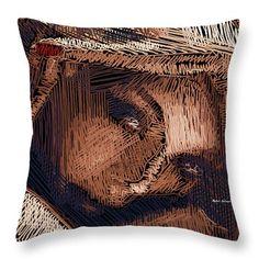 Studio Portrait In Pencil 59 Throw Pillow by Rafael Salazar