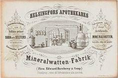 Helsinki Apothecary mineralwater company 19th century