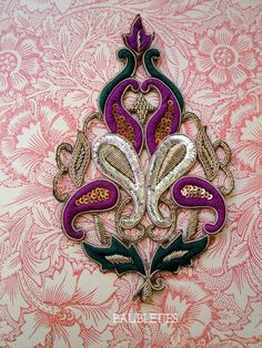 Baroque style Paisleys entwined boteh/palme