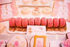 Pink macarons from a