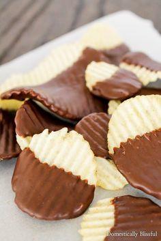 Dark Chocolate Potato Chips