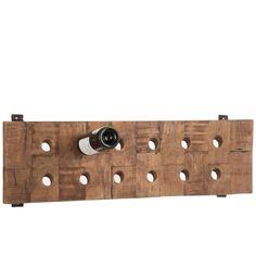 Dřevěný stojan na víno J-Line Winerack, 26x90cm | Bonami