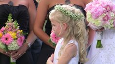 Jenny & Chris's Wedding   Flower Girl   Pink Bouquet